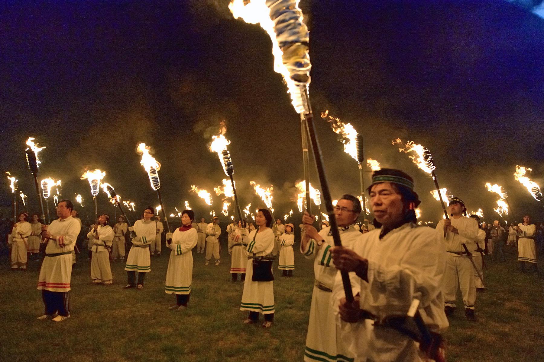 さきたま火祭り さきたま古墳公園