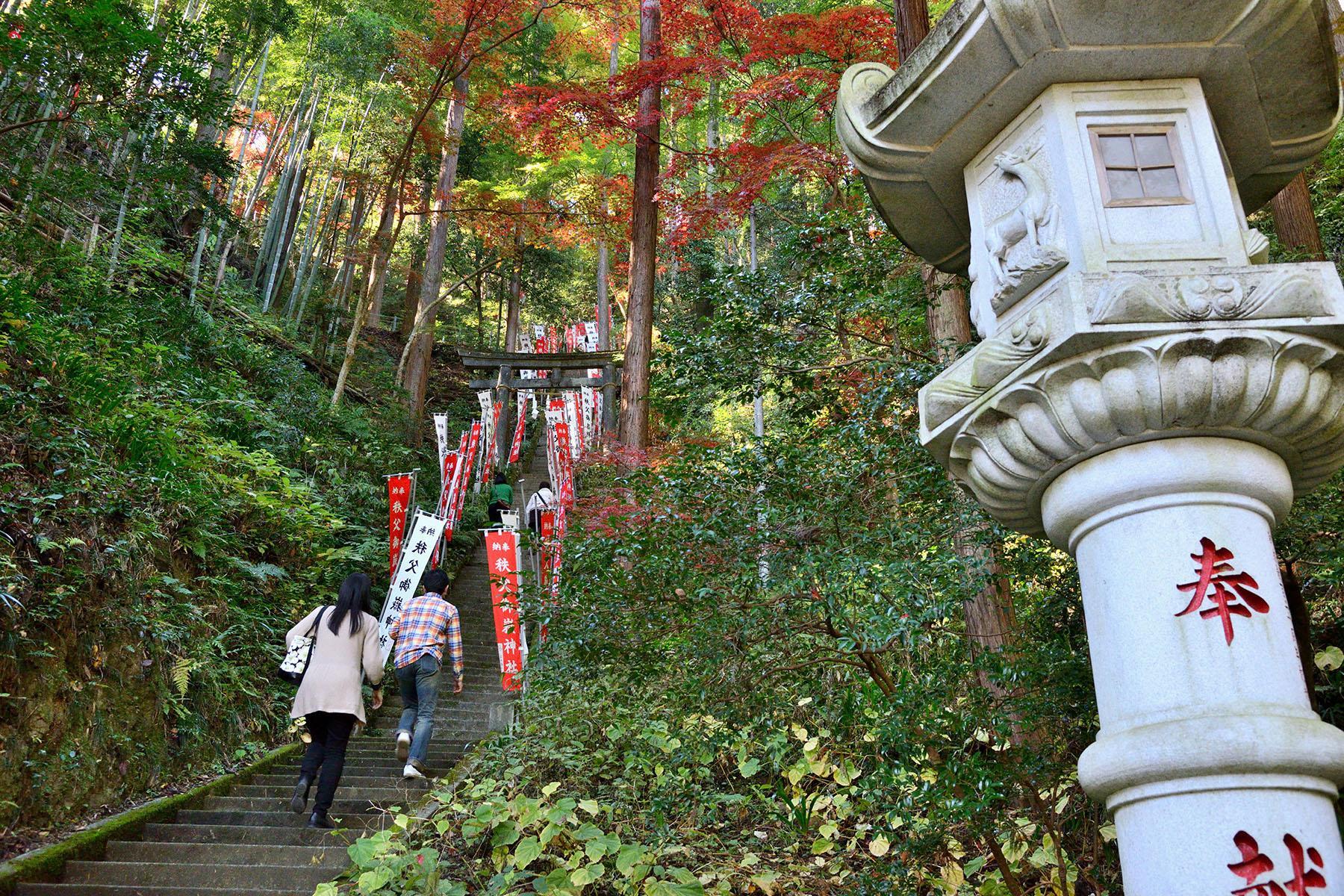 秩父御嶽神社の紅葉 東郷公園秩父御嶽神社