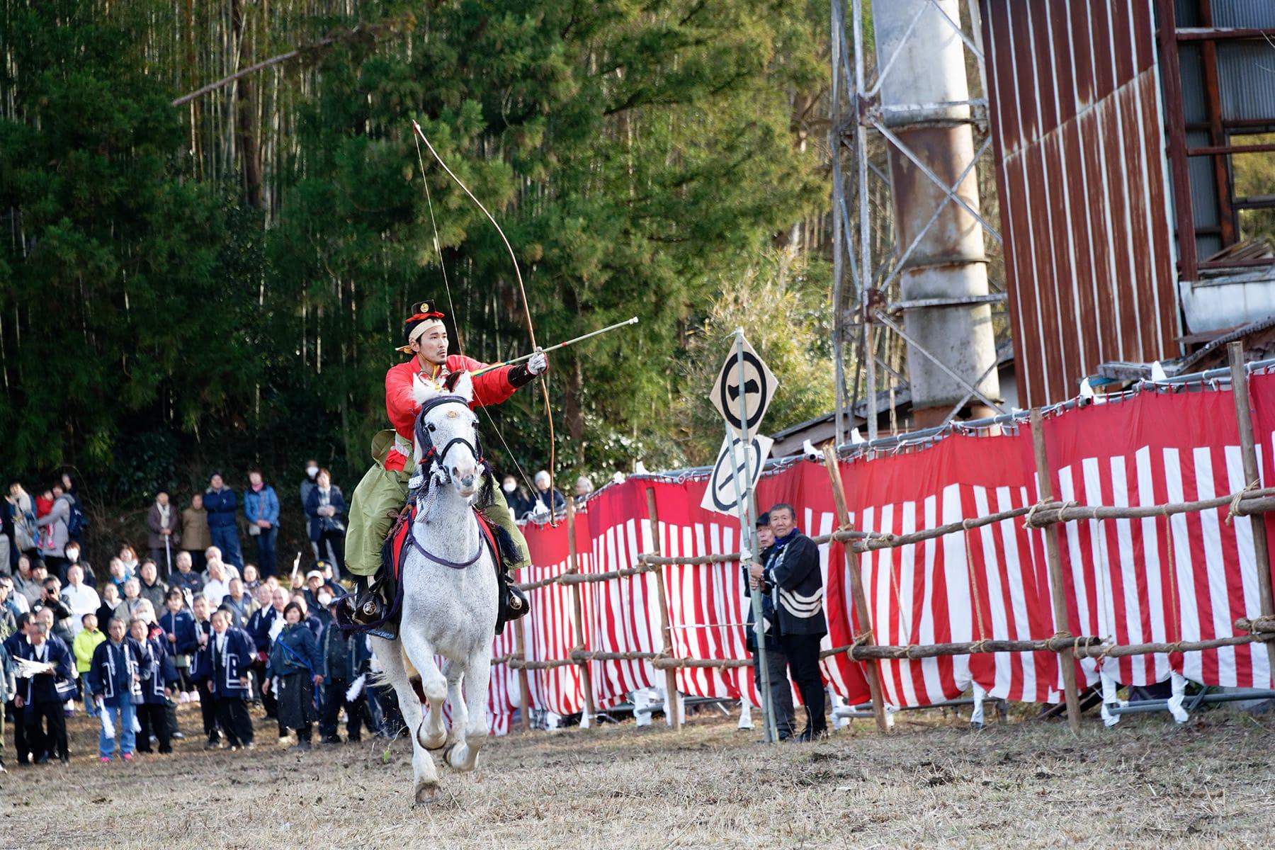 流鏑馬(やぶさめ)祭り【萩日吉神社|埼玉県ときがわ町】